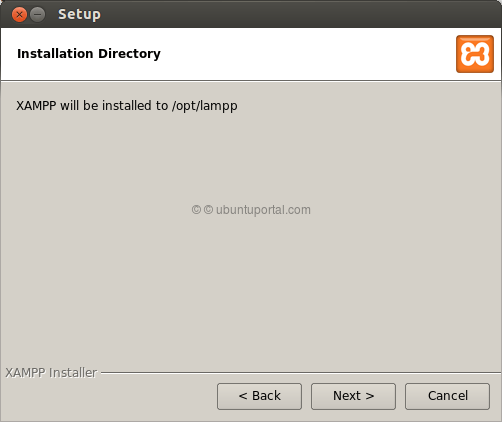 Installation wizard XAMPP 3