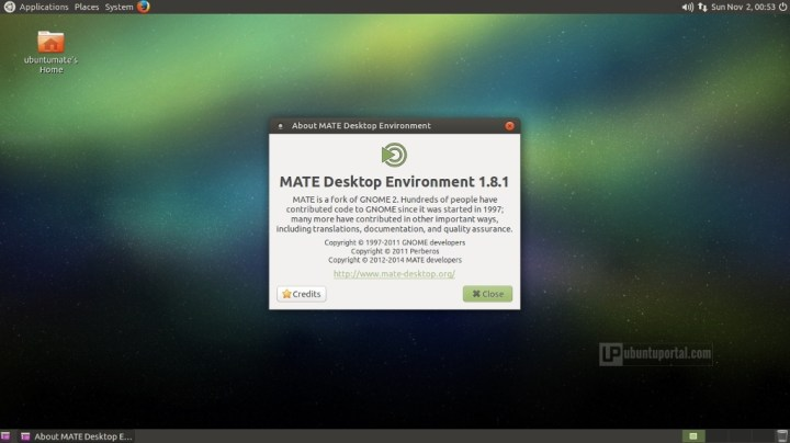 Ubuntu MATE 14.10 - MATE desktop environment