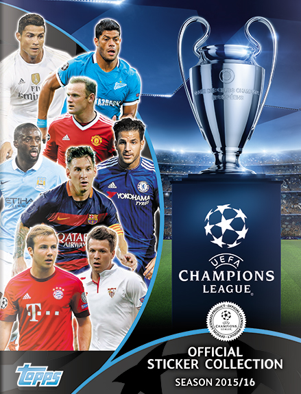 Official uefa champions league stickers