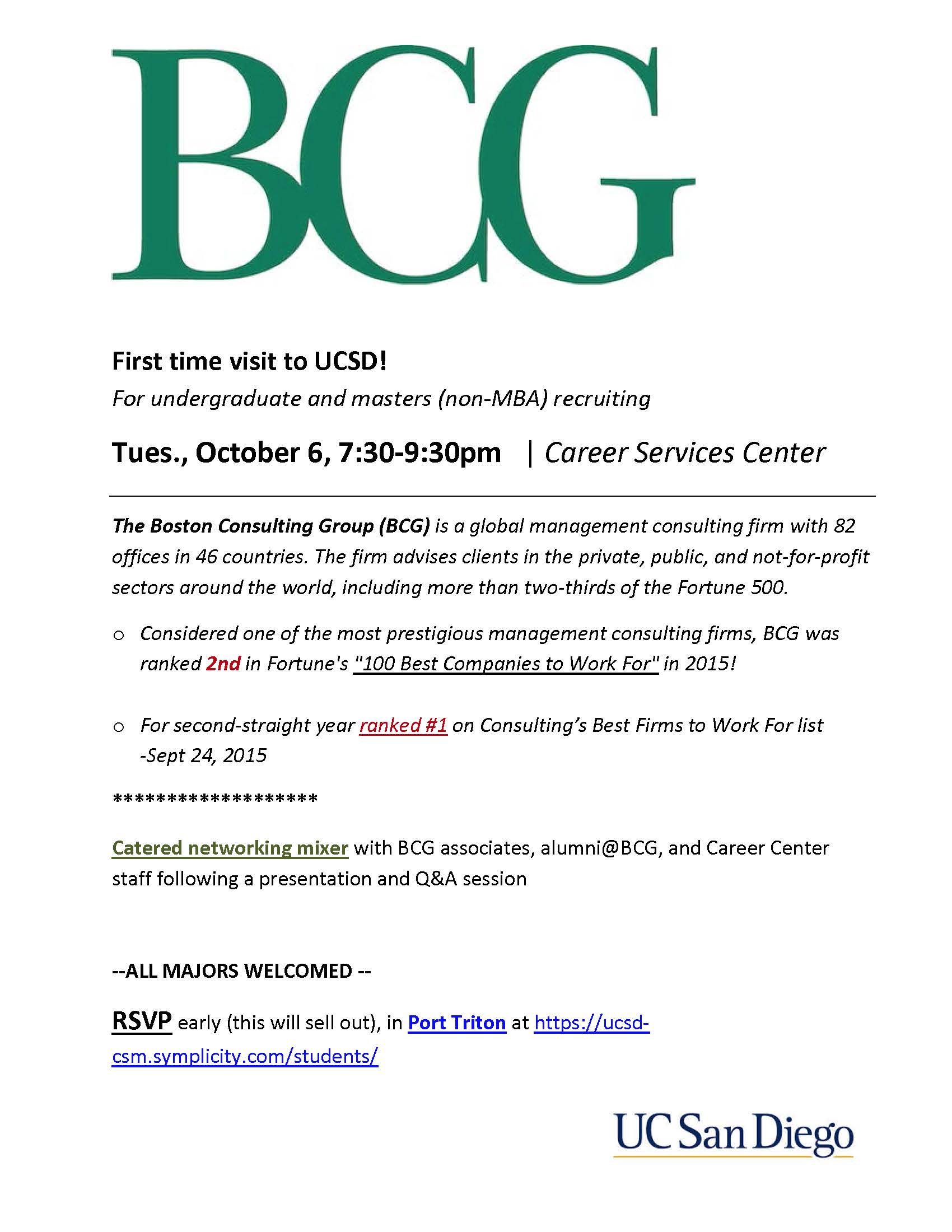 Cover Letter Boston Consulting Group