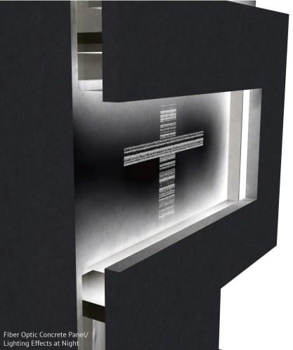 Fiber Optic Concrete Detail