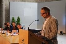 El professor Xavier Besalú en la lectura de la lliçó inaugural