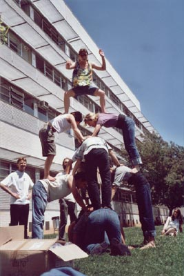 Xoriguers_darrer assaig del curs 2000-2001 (Foto Xoriguers UdG)