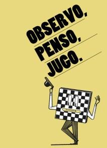 Caràtula del fullet de l'Observatori d'Escacs (Il·lustració Marc Vicens)