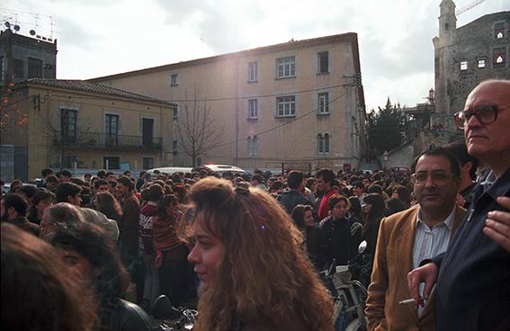 Plaça Sant Domènec, 13 de desembre de 1991