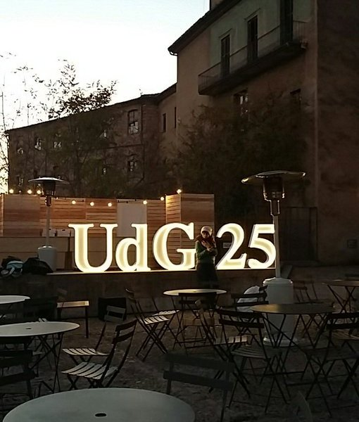 Plaça de Sant Domènec, festa de celebració dels 25 anys de la UdG, el 12 de desembre de 2016