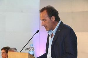 El rector Sergi Bonet en l'acte d'inauguració del curs universitari 2017-2018 (29 de setembre de 2017)