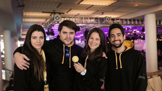 Membres del col·lectiu creador de Chupa Chip (foto Berta Vicente)