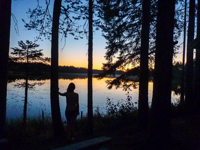 Dämmerung-Karelien