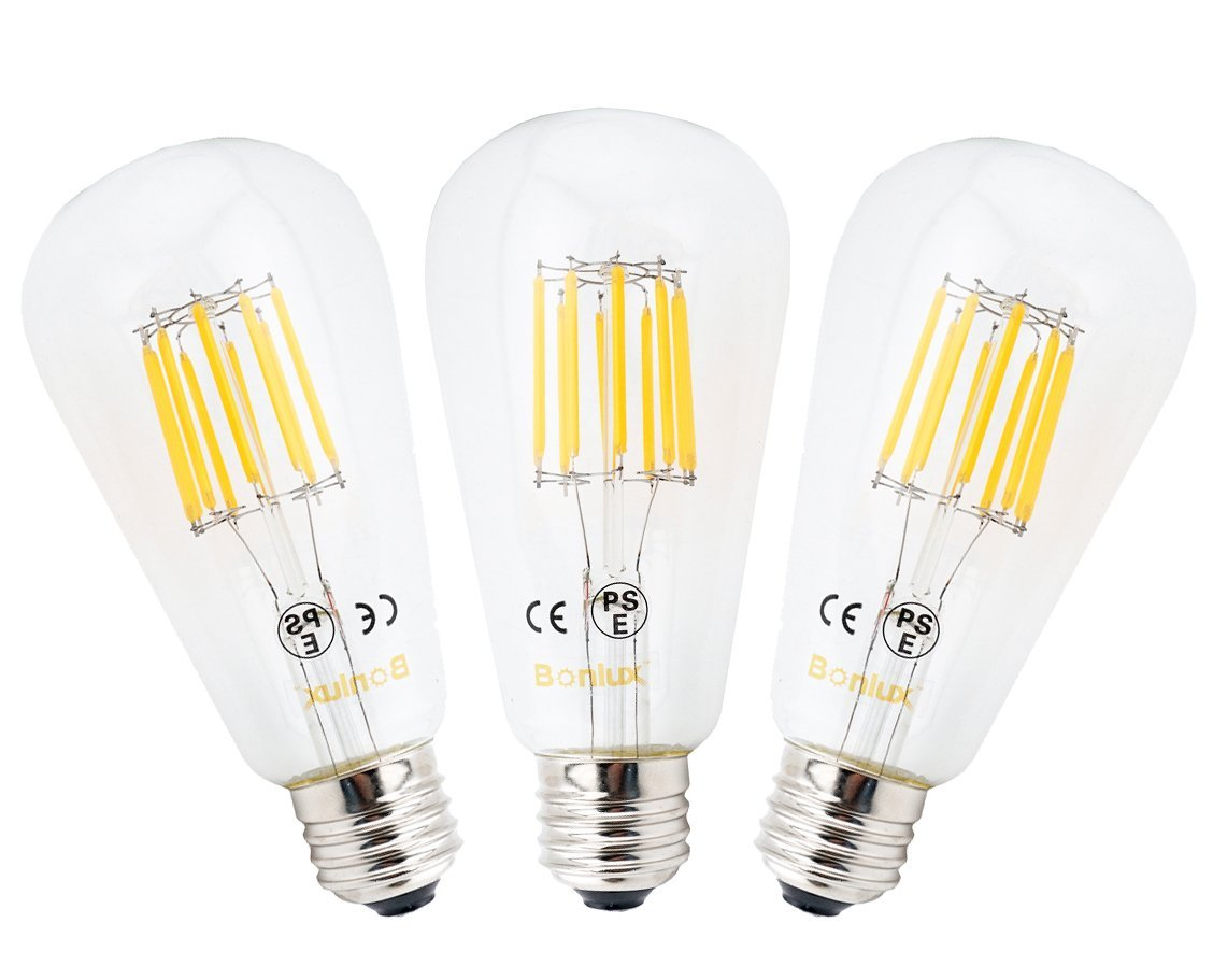 Led E27 100w 3 Pack 10w St64 E27 Led Long Filament Bulb Edison Screw Es Led Squirrel Cage Antique Bulb 100w Incandescent Equivalent Non Dimmable