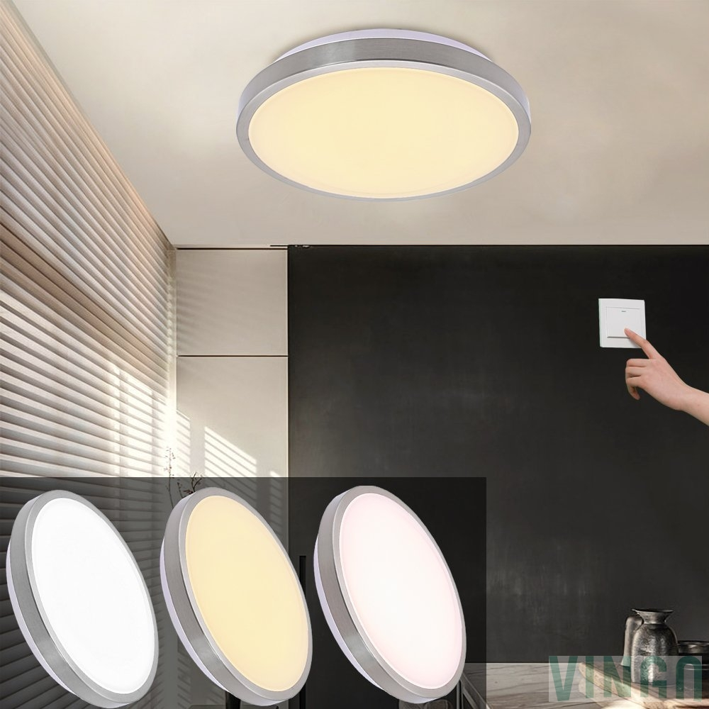 Wohnzimmer Lampe Led Farbwechsel Vingo Led Deckenleuchte Wohnzimmerlampe Badezimmerlampe Vernickelung