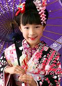 七五三の写真撮影サンプル 女の子(ヘアスタイル-きっちり日本髪)