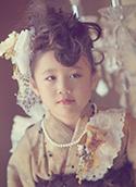 七五三の写真撮影サンプル 女の子(ヘアスタイル-ワイルドモヒカン風)