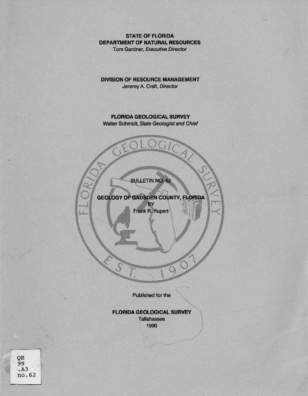 Geology of Gadsden County, Florida ( FGS Bulletin 62 )