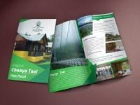 Brochure Design for Nature Hill Top Resort - UFLIX DESIGN