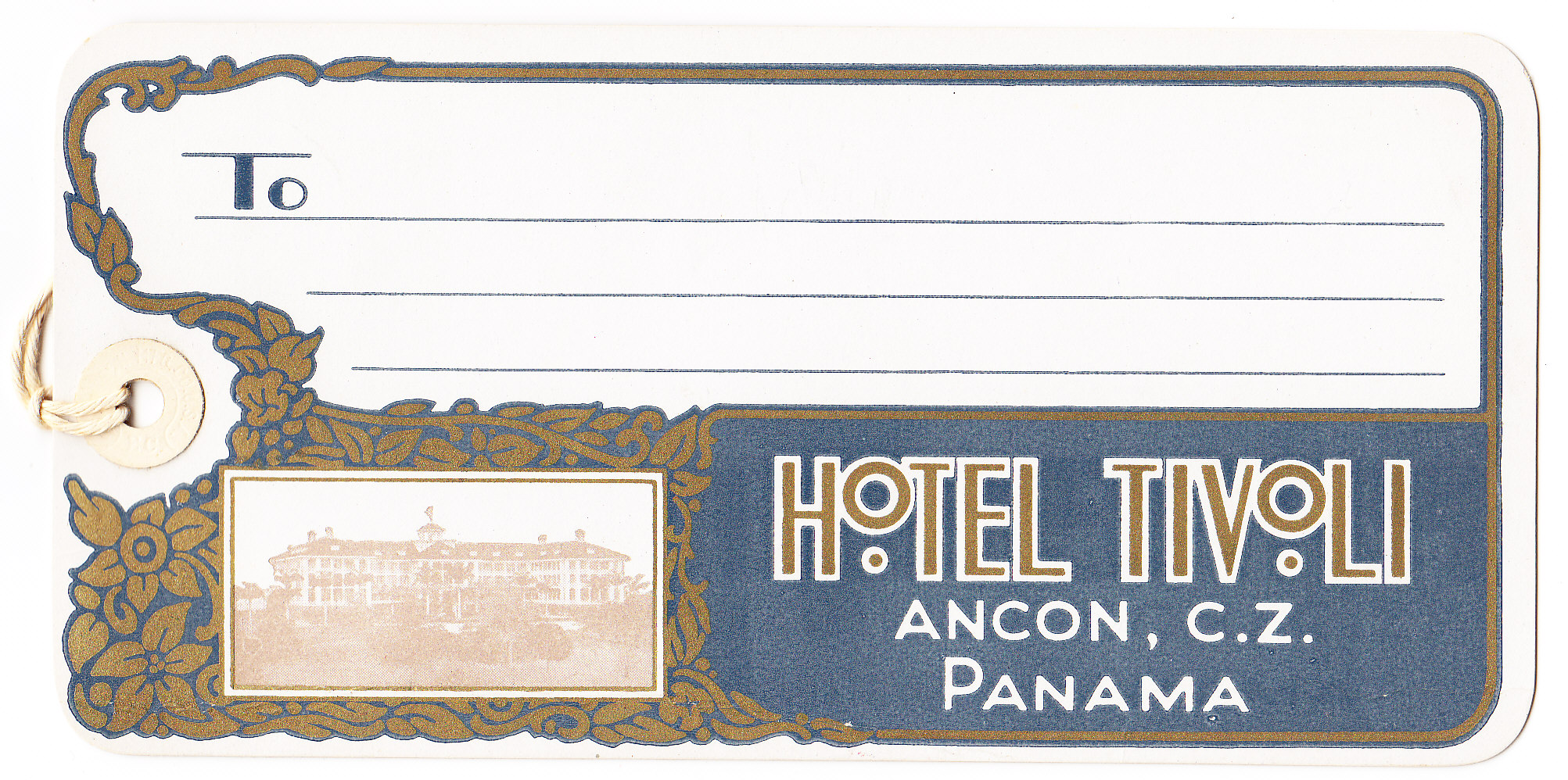 Tivoli Hotel Canal Zone Hotel Tivoli The Panama Canal Museum Collection At Uf