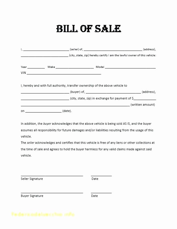 Auto Bill Of Sale Massachusetts New Used Car Bill Of Sale