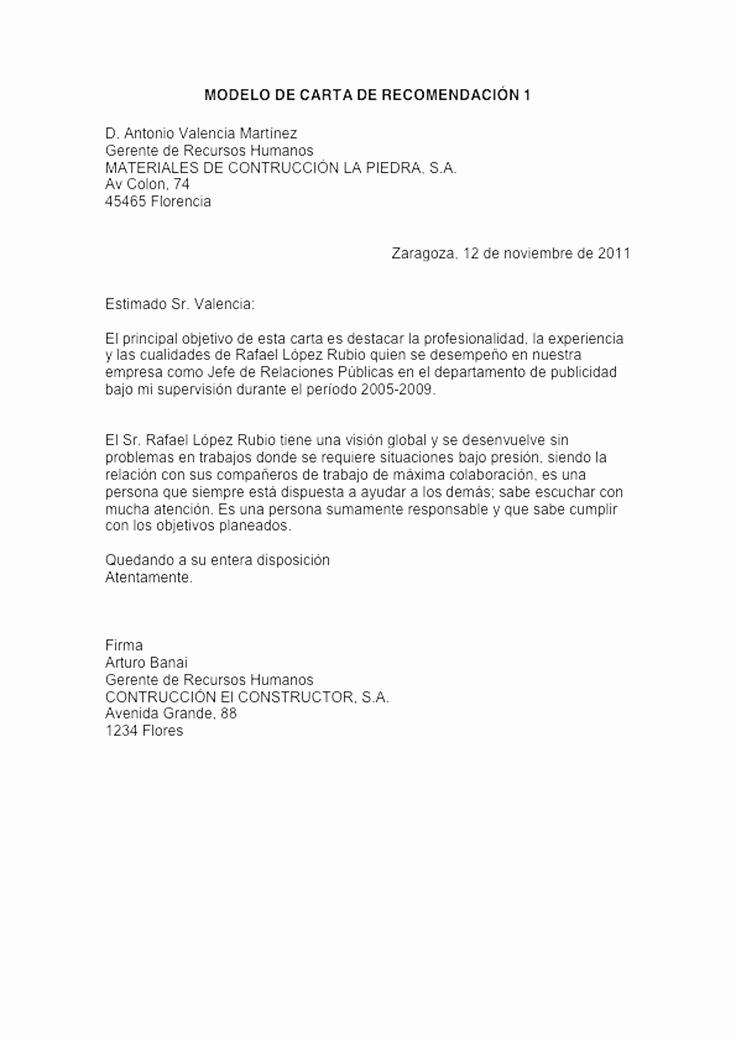 Machote Carta De Recomendacion Personal New formato Referencia