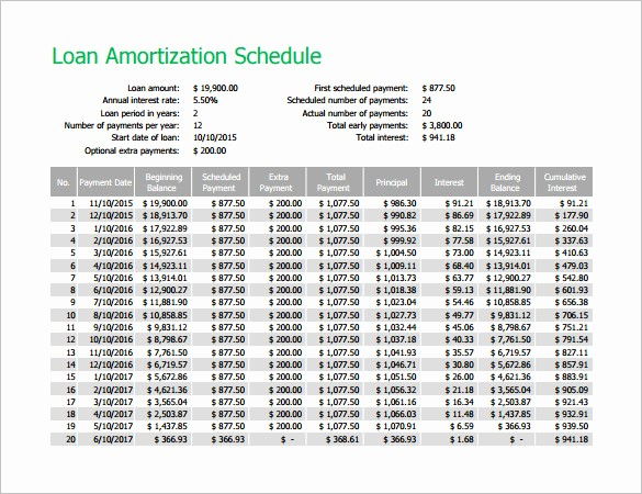 Amortize A Loan In Excel Awesome 6 Loan Amortization Schedule Excel