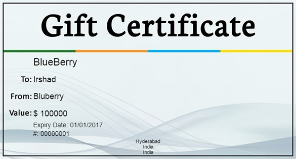 50 Homemade Gift Certificate Templates Free Ufreeonline Template