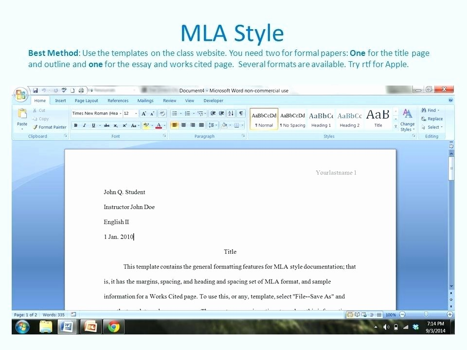 Mla formatting In Word 2010 Awesome How to Set Up Margins and