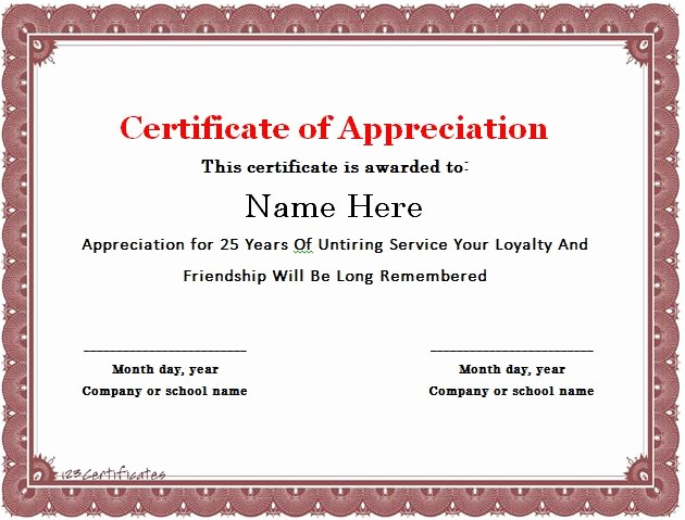 Sample Of Certification Of Appreciation Awesome Free Certificate