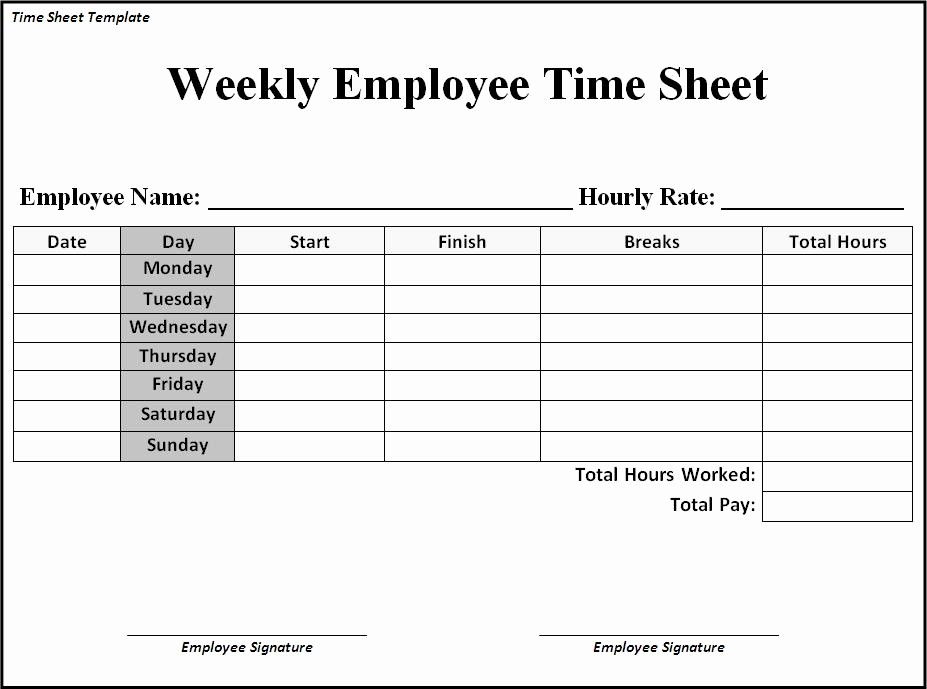 Time Log Sheet for Employees Awesome Daily Time Sheet form Mom