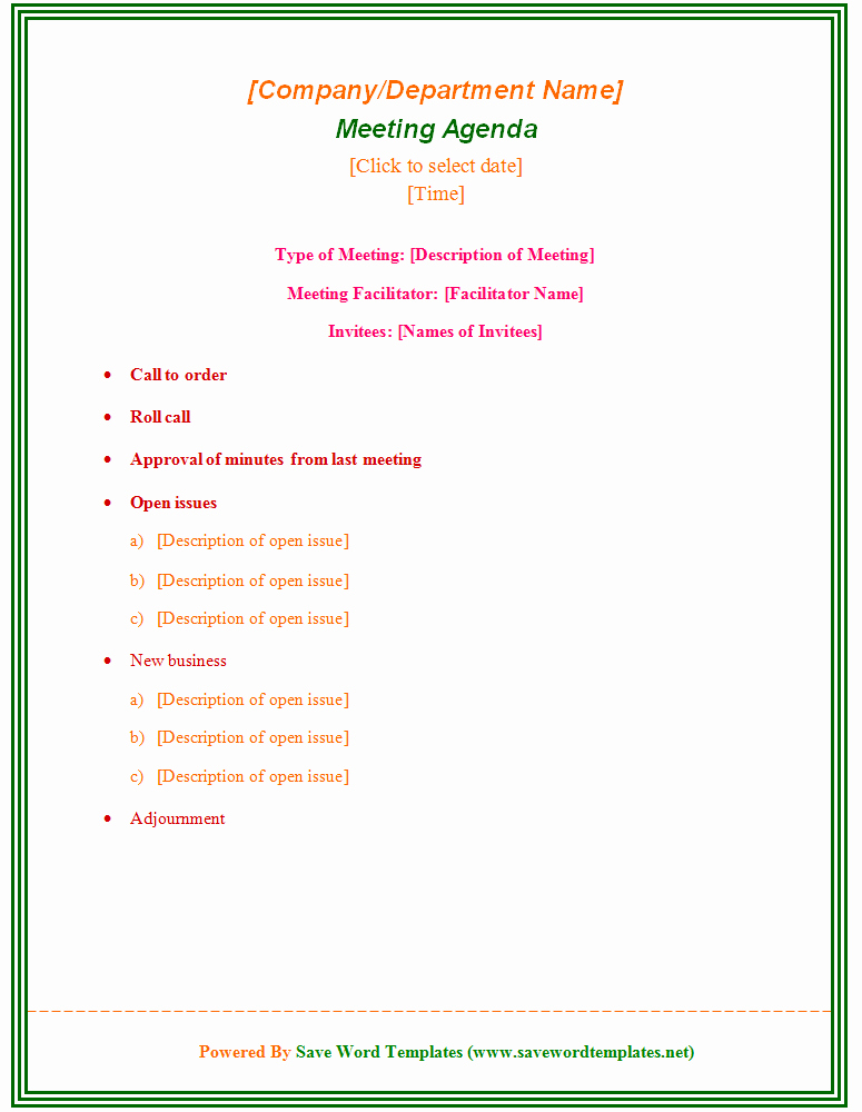 Word Template for Meeting Minutes Lovely Sample Meeting Minute