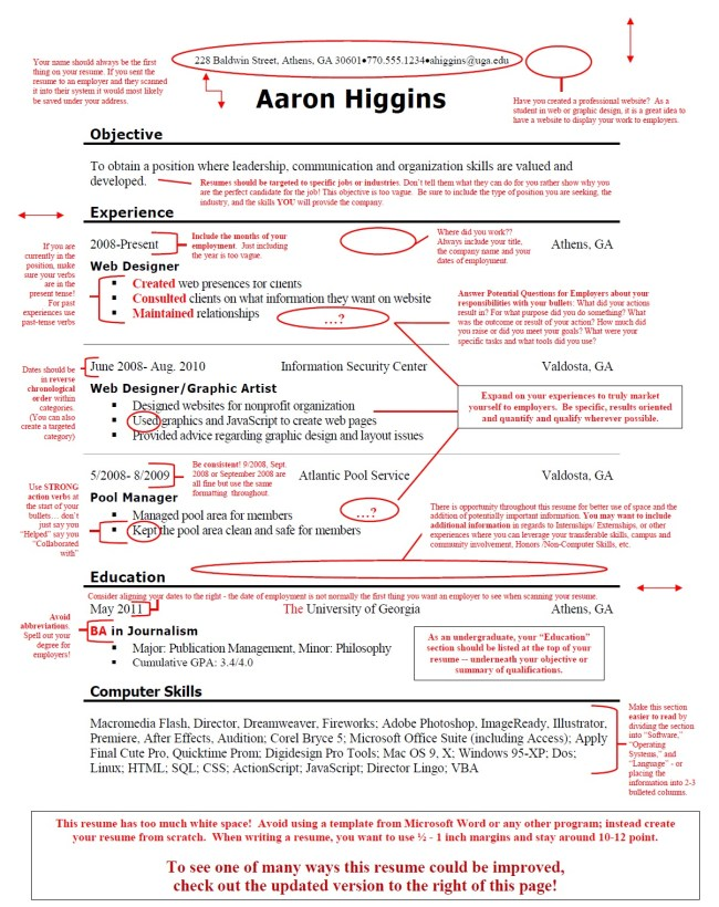 really bad resume example