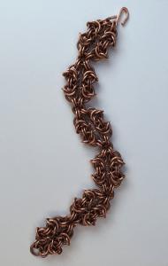 Mens Handmade Copper Bracelet Close Up.