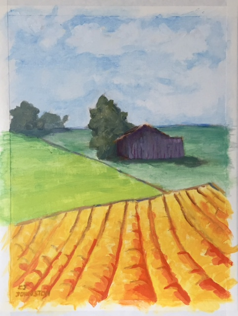Coming Home landscape painting by CJ Johnston