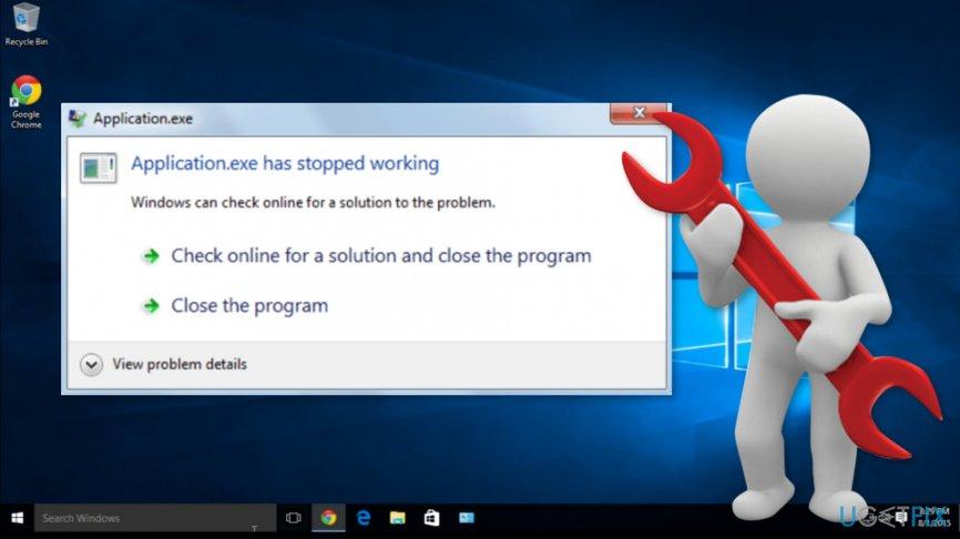 How to Fix \u201cApplicationexe has stopped working\u201d error on Windows 10?