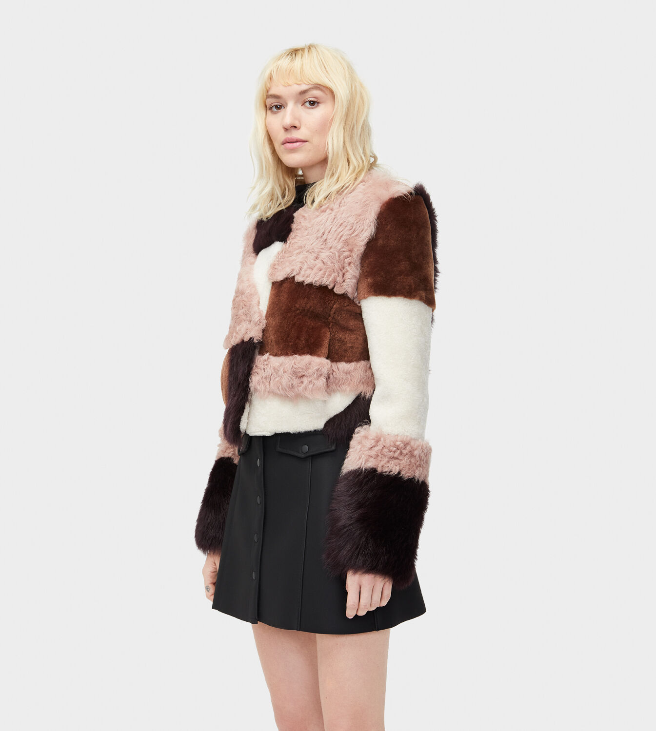 Fur Womens Women S Share This Product Hal Patchwork Short Fur Jacket