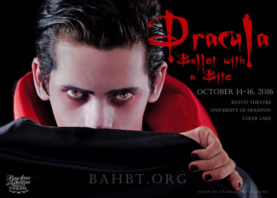 Photo: Dracula from the Bay Area Houston Ballet and Theatre's production of Dracula.
