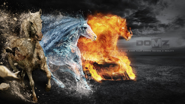 Temple Quotes Wallpaper Pc Hd Horses Of Earth Fire And Water 4k Image 380x2160