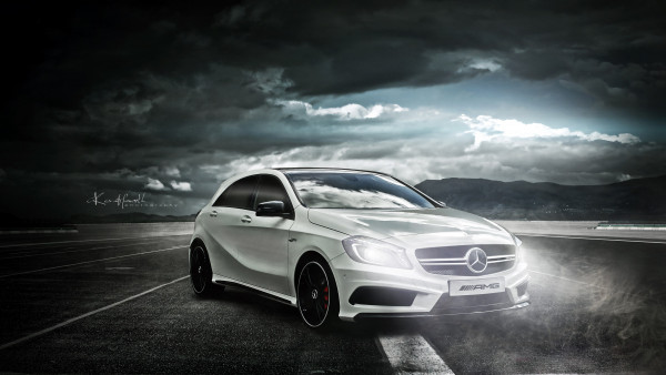 Luxury Car Pictures Wallpaper Mercedes Amg A45 Hd Wallpaper 1920x1080 For Desktop
