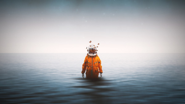 Fire Dragon Wallpapers 3d Lonely Astronaut Desktop Wallpapers 4k Hd Image