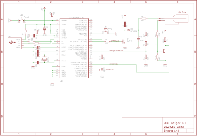 geiger counter with usb interface schematics