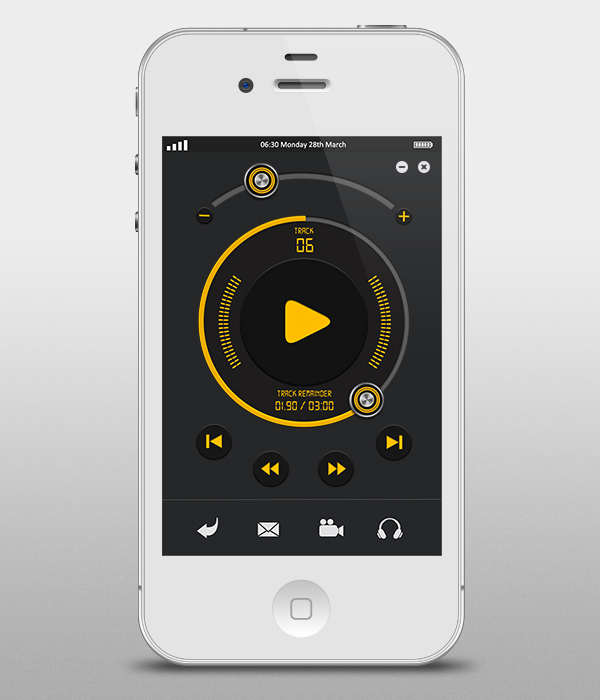Music Player Interface for iPhone Newer Older