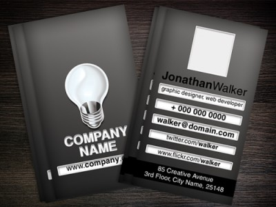 Designer or web developer Business card UICloud - web designer business card