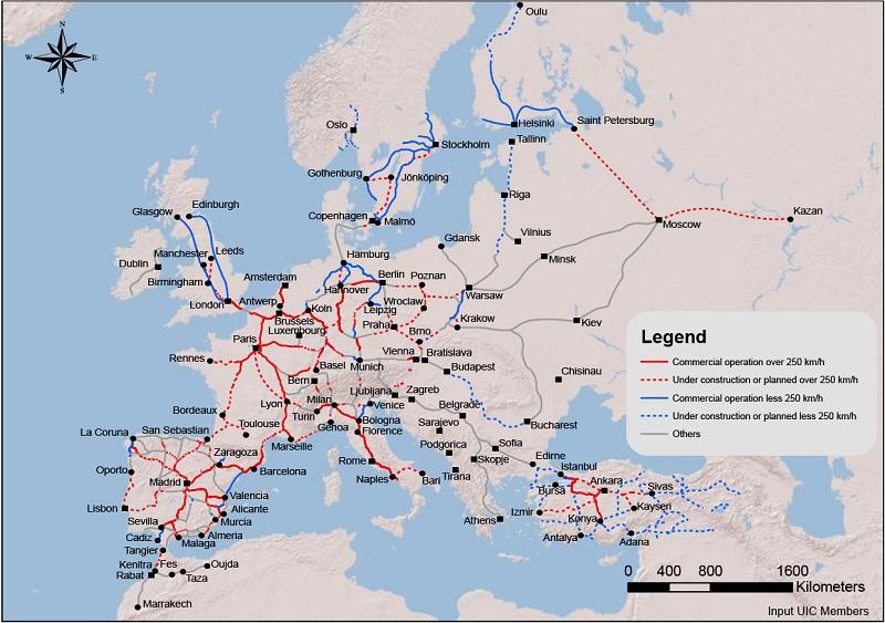 High-Speed Database  Maps - UIC - International union of railways