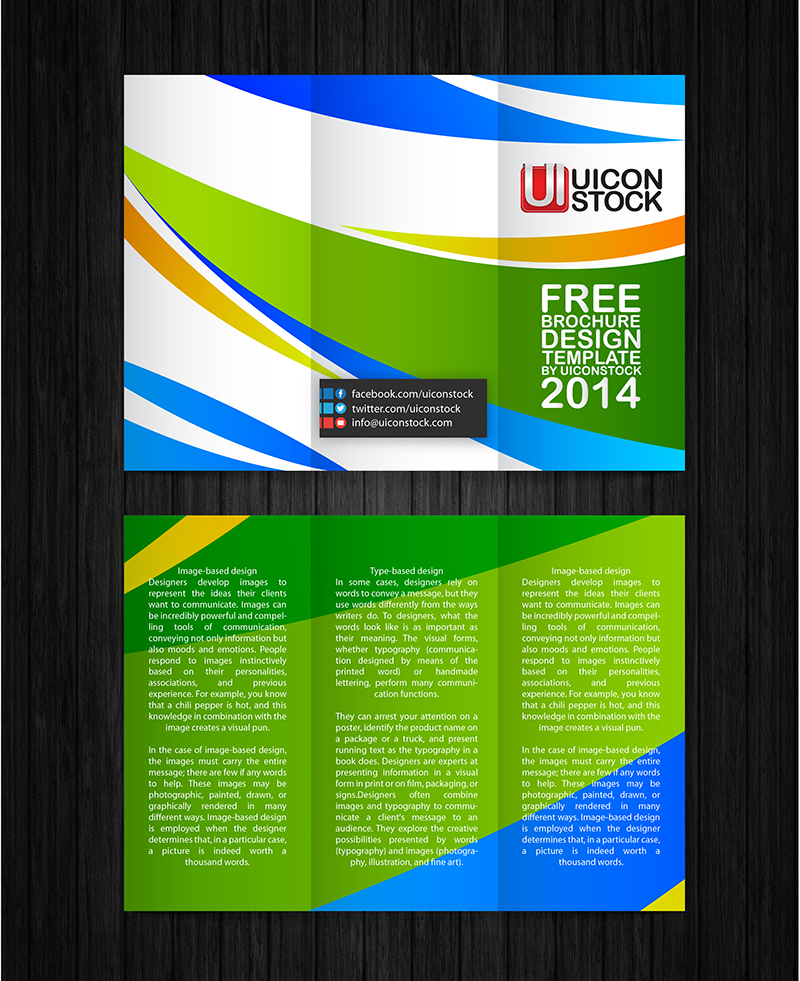 Free Printable Brochure Design Template - free pamphlet design
