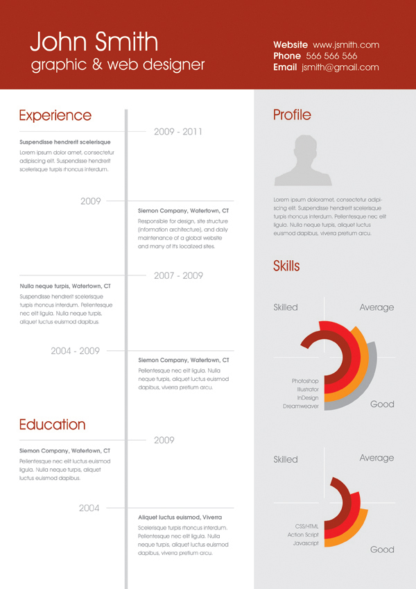 25 Best Free Professional CV (Resume) Templates 2014 - professional cv
