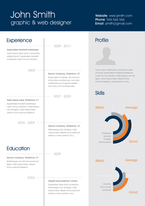 Free One Page Resume Templates Download Cover Letter For Template