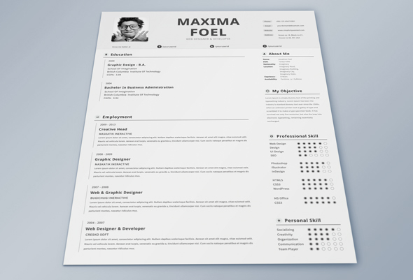 25 Best Free Professional CV (Resume) Templates 2014 - best free resume template