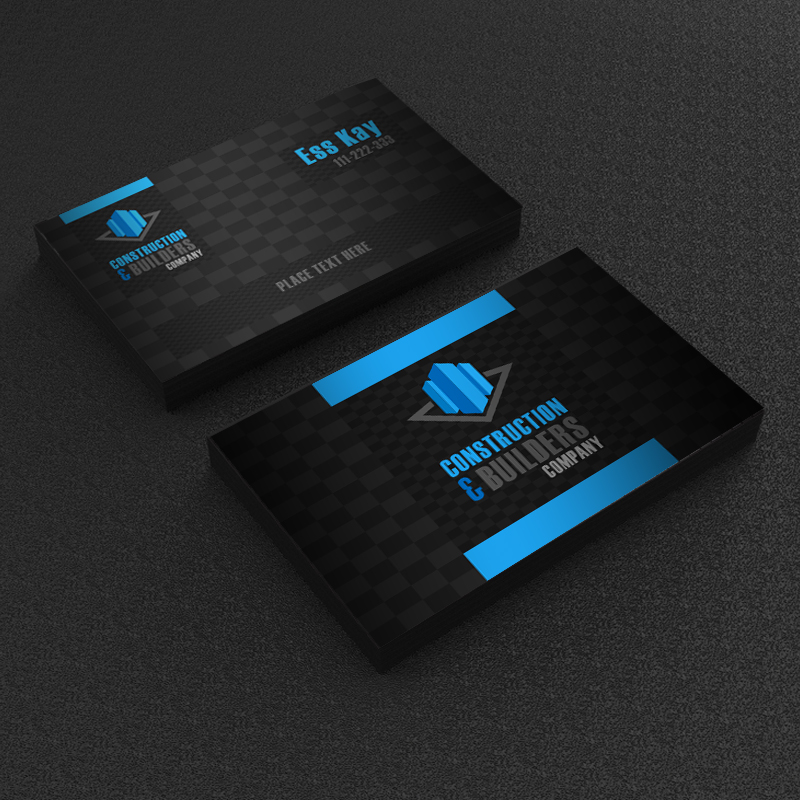 Free Construction Company Business Card Template Design - A Graphic