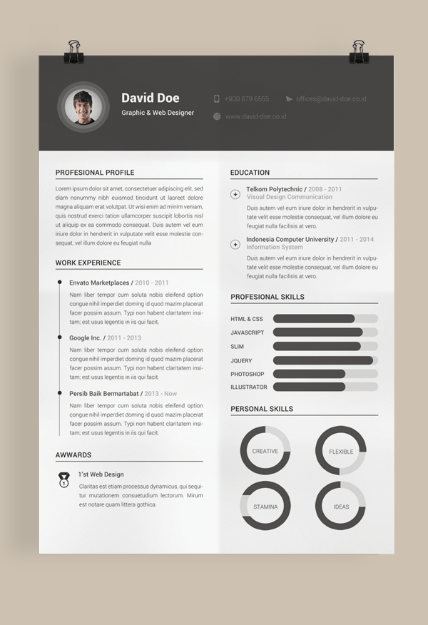 ux design resume template