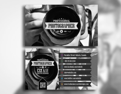 Free Professional Photographer Business Card