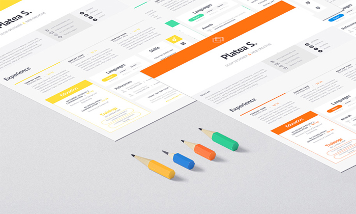 10 Free Simple  Clean Resume-CV Templates You Would Love to Download