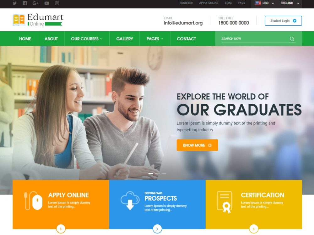 25+ Amazing Education Website Templates for College  Universities